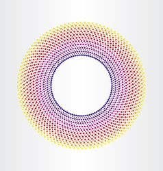colorful abstract background with circles vector image vector image