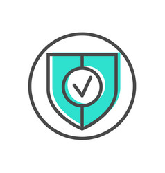 Data stream icon with shield sign vector