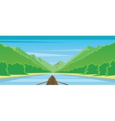 Digital abstract background with a boat vector