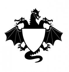 Dragon shield vector