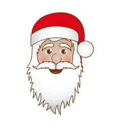 face cartoon santa claus portrait icon vector image