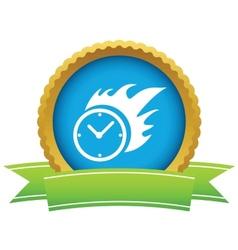 Gold hot clock logo vector