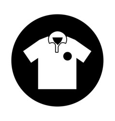 Golf team shirt icon vector