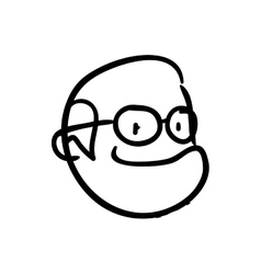 Grandfather icon oldpeople and cartoon vector