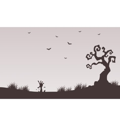 Halloween backgrounds hand zombie vector image vector image