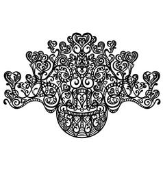 heart motif vector image vector image