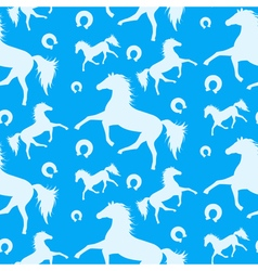 Horses Pattern 2 vector image vector image