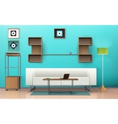 Living room isometric design vector