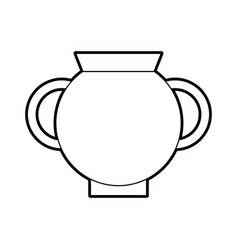 old museum vase icon vector image