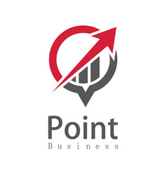 point business arow logo vector image