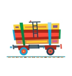 Railway train carriage vector image