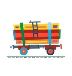 Railway train carriage vector