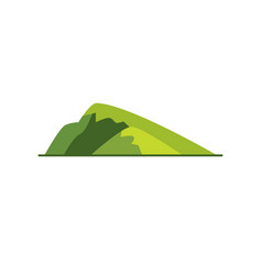 Sloping hill icon in flat style vector