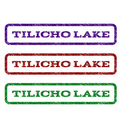 Tilicho lake watermark stamp vector