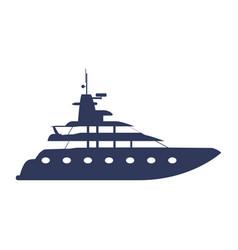 Yacht luxury boat vector