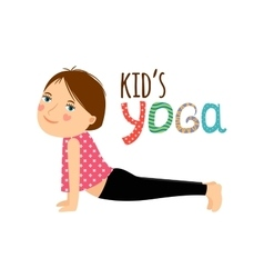 Yoga kids isolated logo design vector image vector image