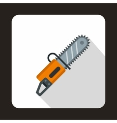 Chainsaw icon flat style vector image