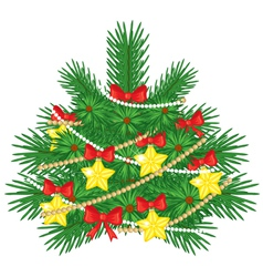 Decorated fir vector