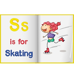 A picture of skating in a book vector image