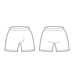 Shorts template for design sample for sports vector