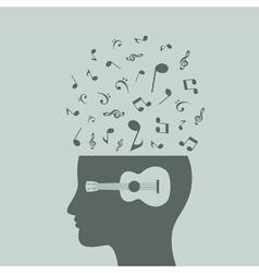 Musical head7 vector image