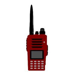 Walkie talkie or radio communication vector image