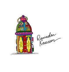 Traditional ramadan kareem month celebration vector
