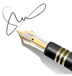 Ink pen signature vector