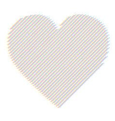 Heart modern abstract vector
