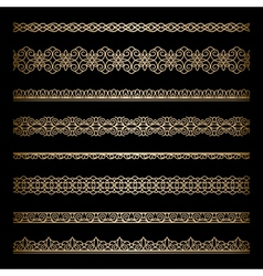 Gold borders vector