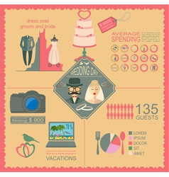 Set of vintage wedding fashion style and travel vector