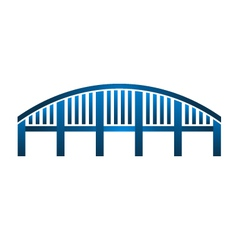 Arch Bridge structure logo vector image