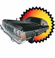 Retro limousine vector