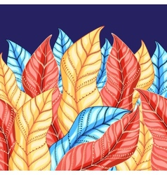 Colorful background of leaves vector