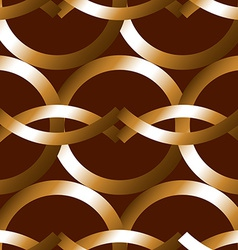 Seamless bold bronze rings geometrics pattern vector