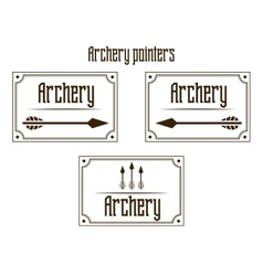 Pointers archery vector