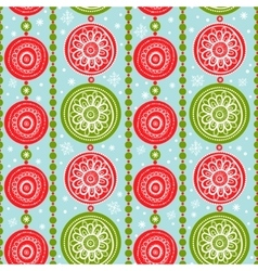 Pattern with christmas garlands vector