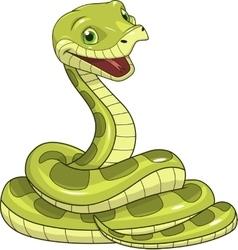 Green funny snake vector
