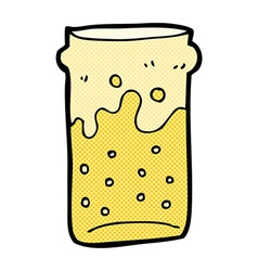 Comic cartoon pint of beer vector
