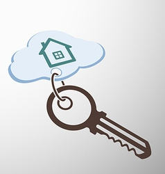Key with keychain vector