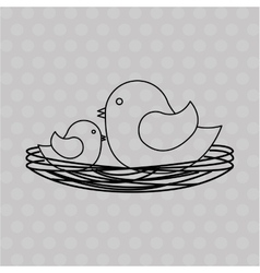 Mom bird design vector