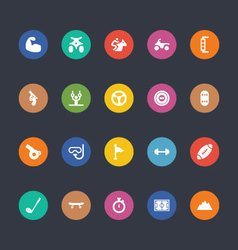 Glyphs Colored Icons 49 vector image