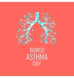 Asthma awareness poster vector
