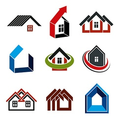 Growth trend of real estate industry simple house vector