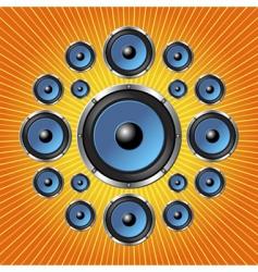speakers background vector image