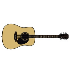 Acoustic guitar vector