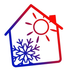Air conditioning House silhouette vector image vector image