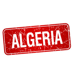 Algeria red stamp isolated on white background vector