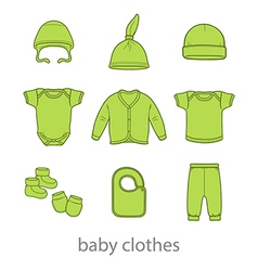 Baby fashion clothing fashion shirt design wear vector image