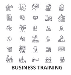 business training training session learning vector image